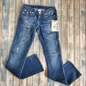 NWT True Religion Super T Bootcut Jeans Sz 24